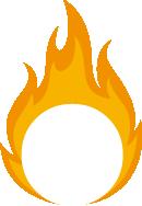 Firestone Creative Logo Isolated Flame Negative