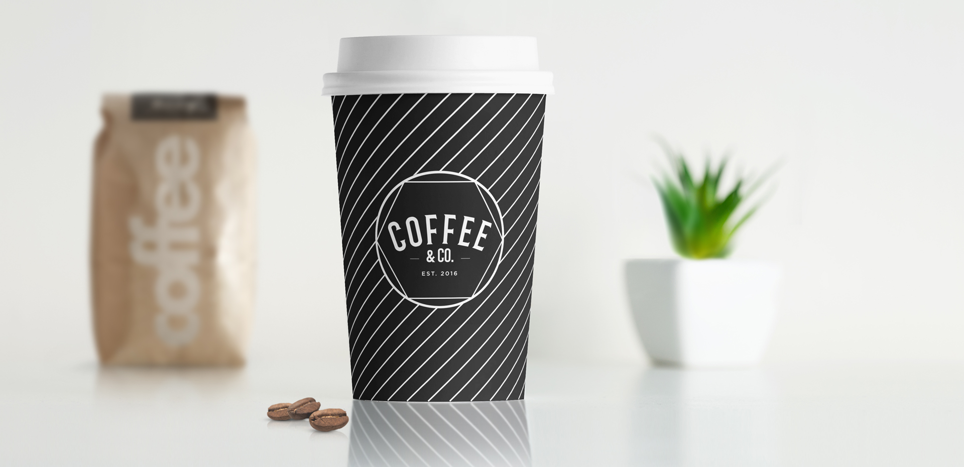 Coffee & Co. logo on coffee cup full size
