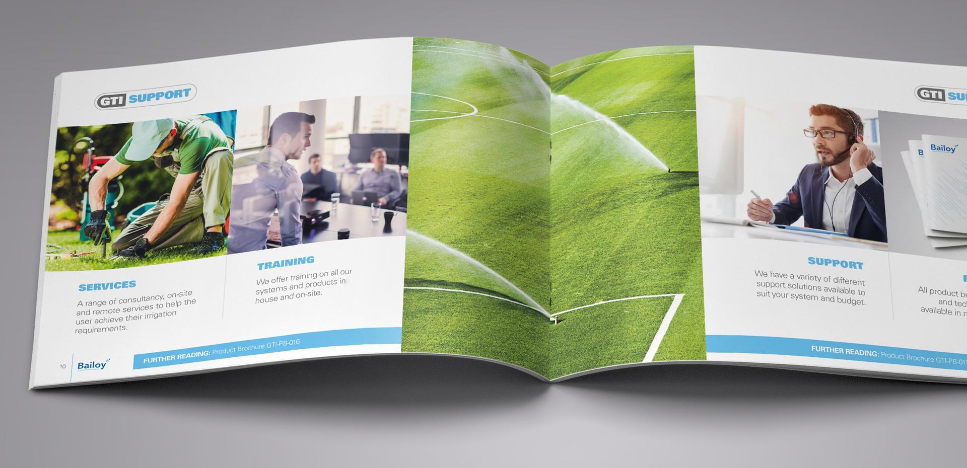 Bailoy A5 landscape promotional brochure inside pages