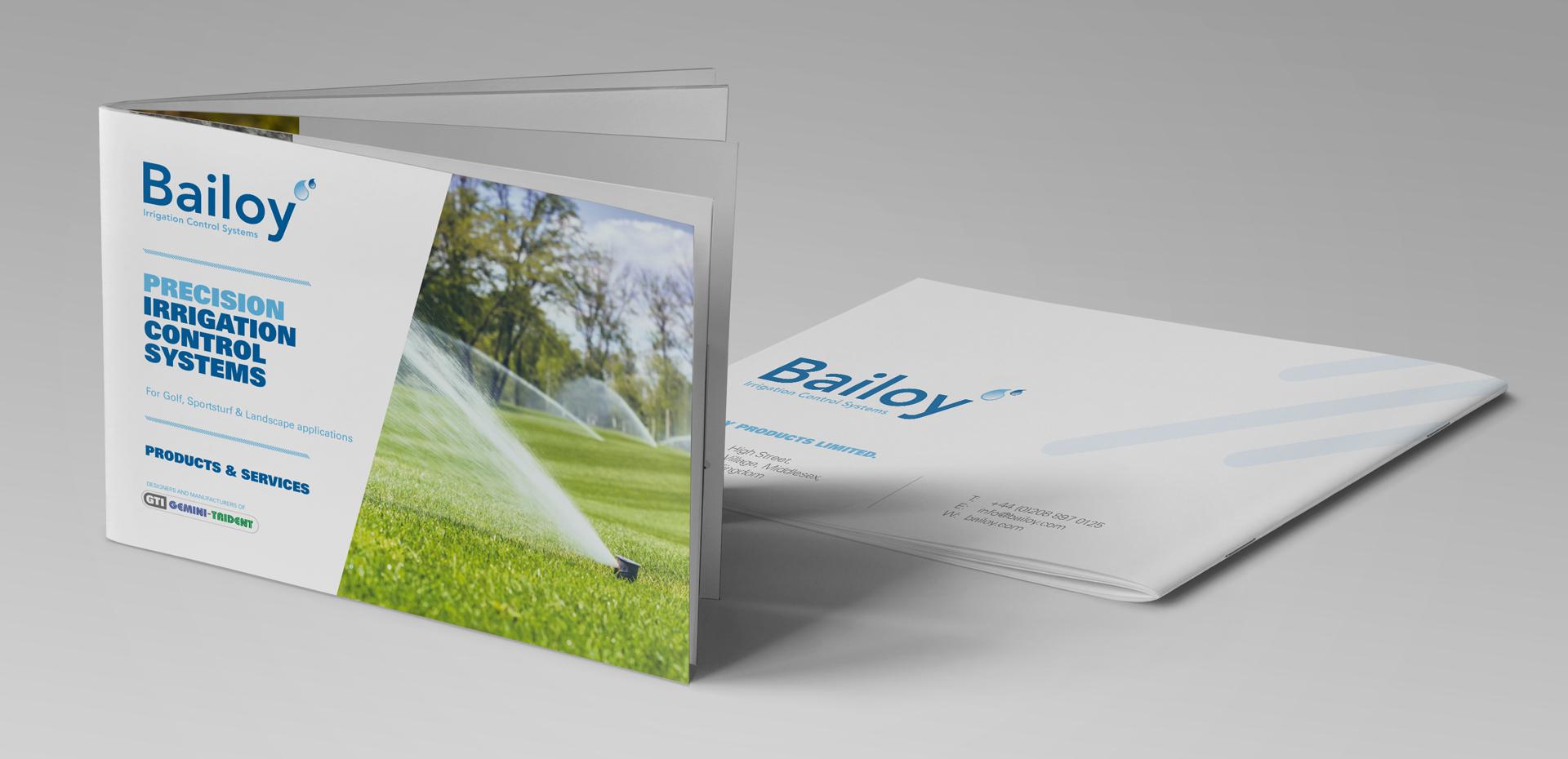 Bailoy A5 landscape promotional brochure
