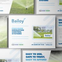 Bailoy A5 promotional flyer and USB Credit Card