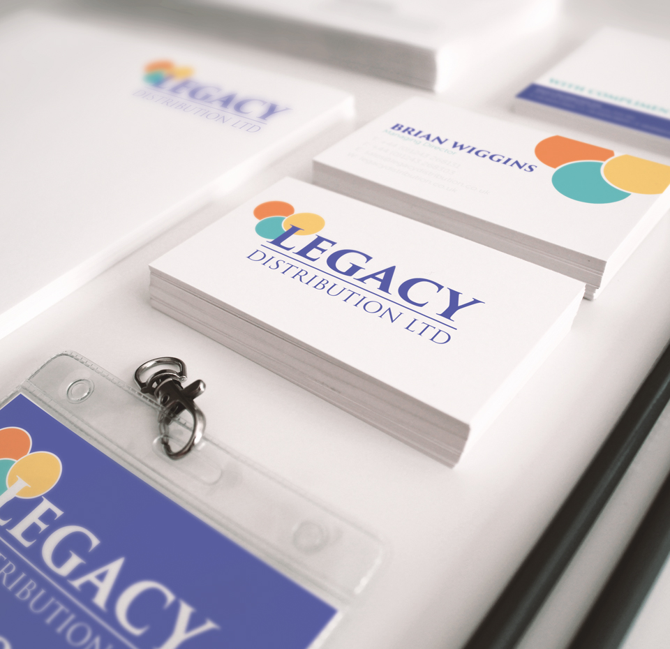 New Legacy Distribution stationery with updated branding
