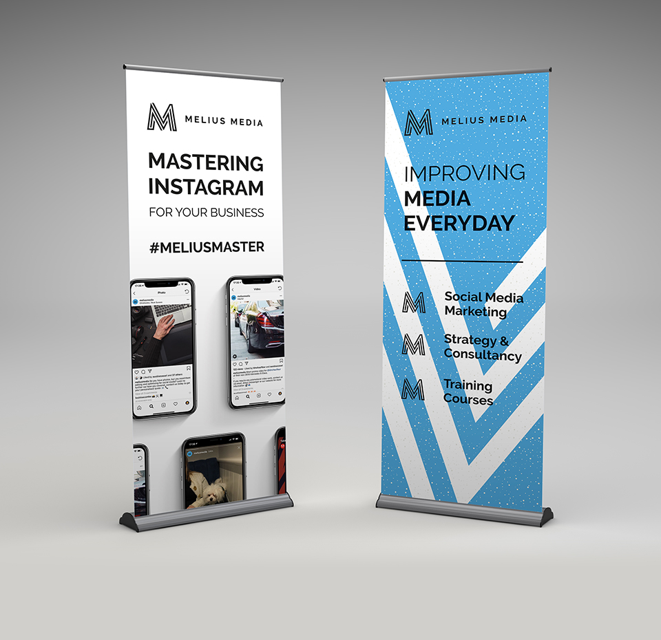 Melius Media Pull-up banners advertising training course