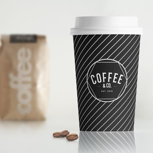 Coffee & Co. logo on coffee cup