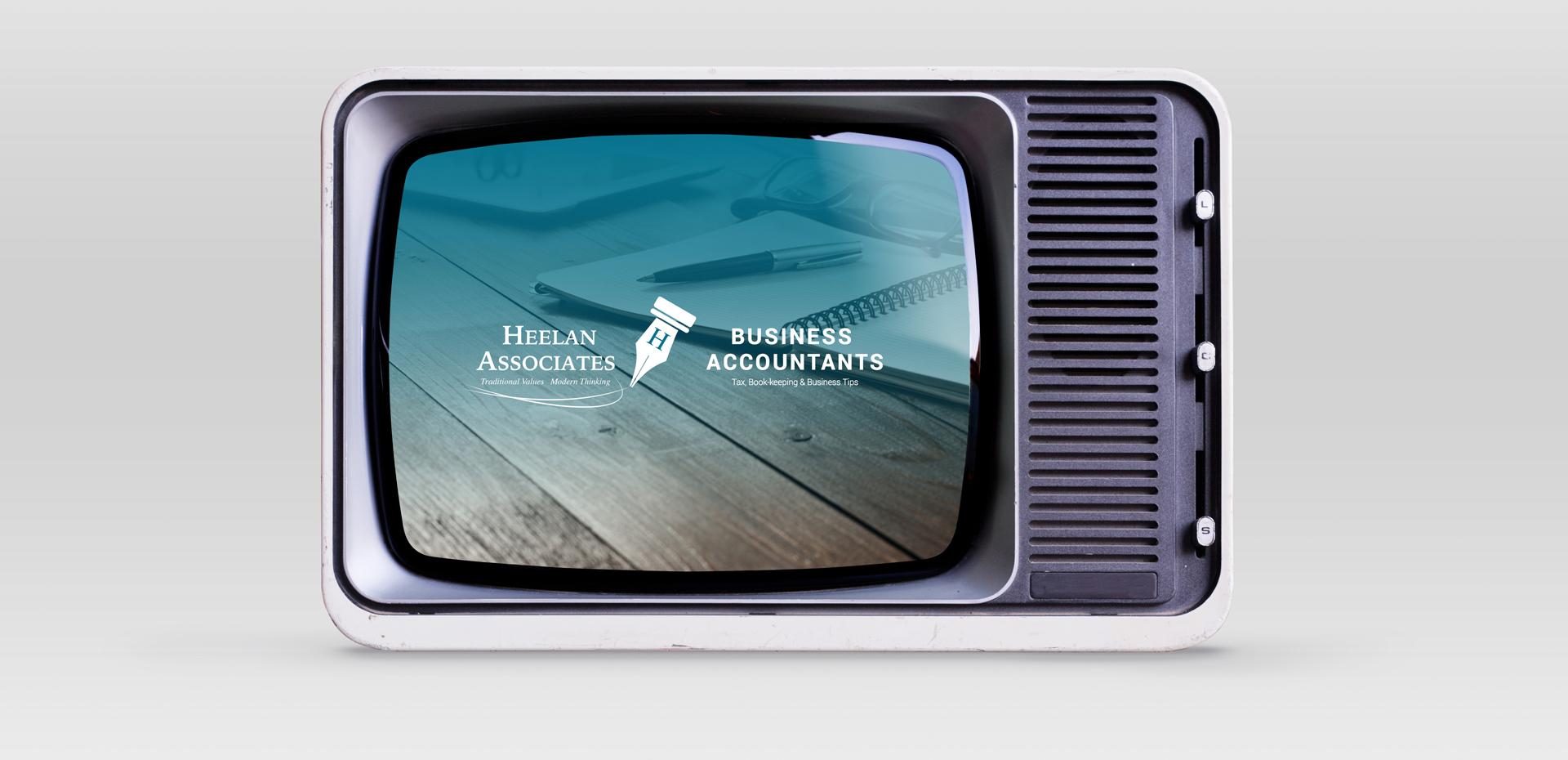 Heelan Associates Youtube Channel on a TV
